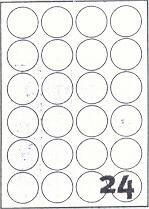 PG4-44 - Etichette bianche lucide rotonde - d. 44 - 100 ff