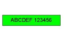 S0720590 - 45019 Nastro Dymo D1 nero su verde mm. 12 x 7 m.