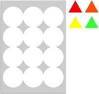 LP4FA-63 - Etichette arancio fluorescente con margini - Laser/Inkjet/Copiatrici - d. 63,5 - 70 ff