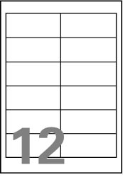 3659 - Etichette bianche ECOLOGICHE, CERTIFICATE FSC - QuickPEEL - Laser/Inkjet/Copiatrici - 97x42,3 - 100 ff