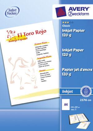 2576-150 - Carta bianca fotografica patinata opaca - 110g - stampanti Inkjet - 210x297 - 150 ff