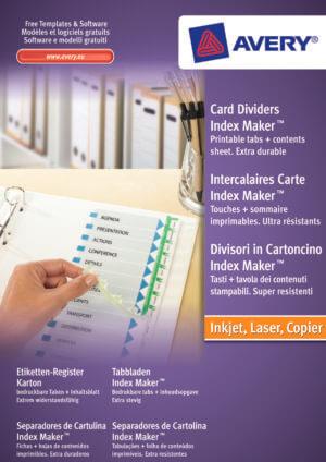01638061 - Divisori con banda perforata, tavola contenuti e tasti personalizzabili con etichette trasparenti - 6 tasti - stampanti Laser/Inkjet - 297x225x3