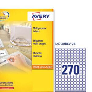 L4730rev-25 - Etichette Avery rimovibili