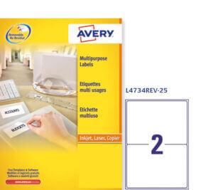 L4734REV-25 - Etichette rimovibili ecologiche, certificate FSC - stampanti Laser - 199,6x143,5 - 25 ff