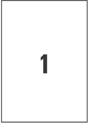 L4775REV-20 - Etichette in poliestere bianco con adesivo rimovibile- stampanti Laser - 210x297 - 20 ff