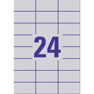 L6133-20 - Etichette in poliestere argento - stampanti Laser - 70x37 - 20 ff
