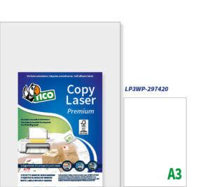 LP3WP-297420 - Etichette bianche senza margini - A3 - stampanti Laser - 297x420 - 300 ff