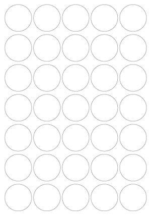 PC4-36 - Etichette trasparenti lucide rotonde - d. 36 - 100 ff