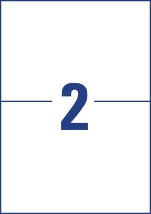 L7916-10 - Etichette bianche ultraresistenti in polietilene flessibile - stampanti Laser - 210x148 - 10 ff