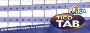 TAB1-1273 - Etichette bianche a modulo continuo - corsia singola - 127x36,2 - 500 ff