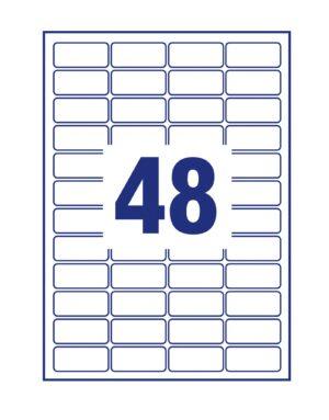 L4614-25 - Etichette bianche coprenti Blockout certificate FSC - stampanti Laser - 45,7x21,2 - 25 ff
